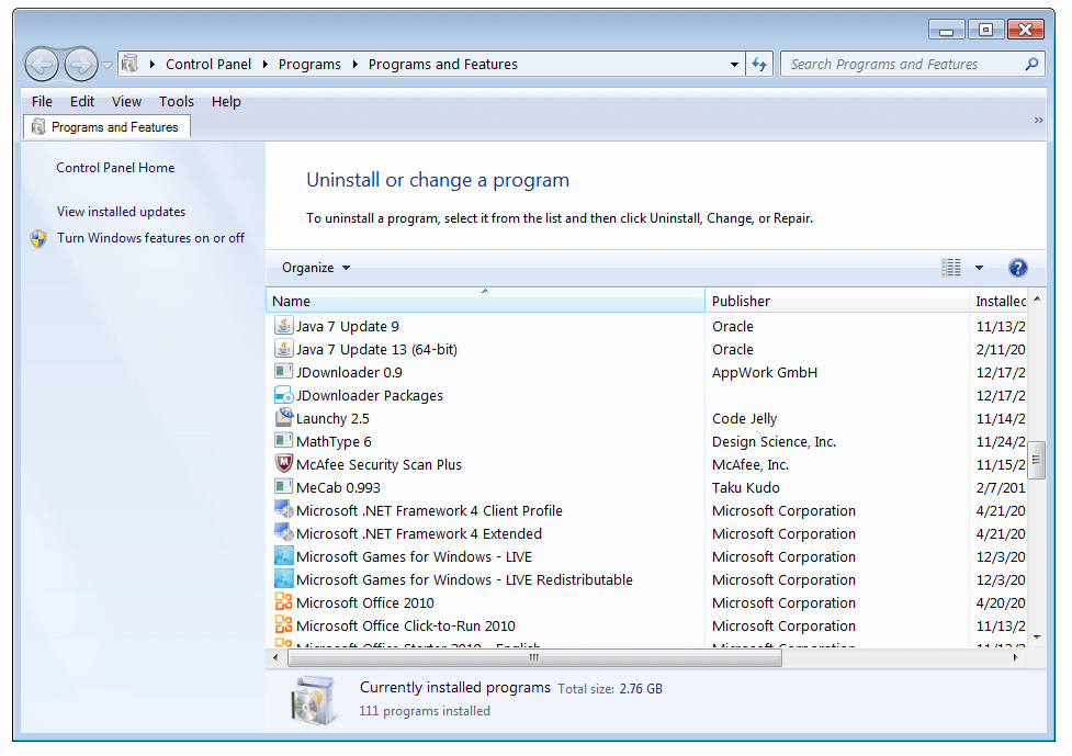 Internet Explorer - Add or Remove Programs - WindowsWally