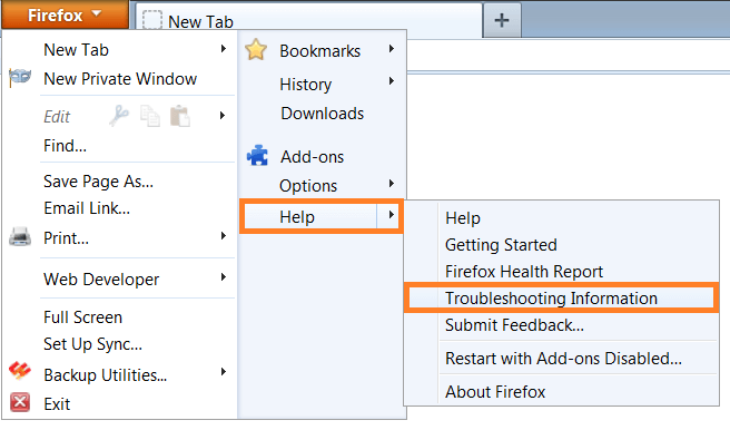 Firefox - Help - Troubleshooting Information - WindowsWally