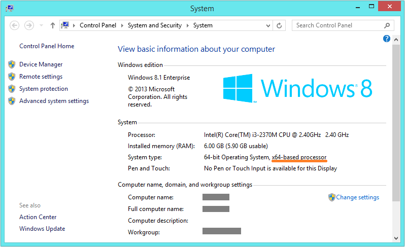 Windows 8 64-bit - System - 64-bit - WindowsWally