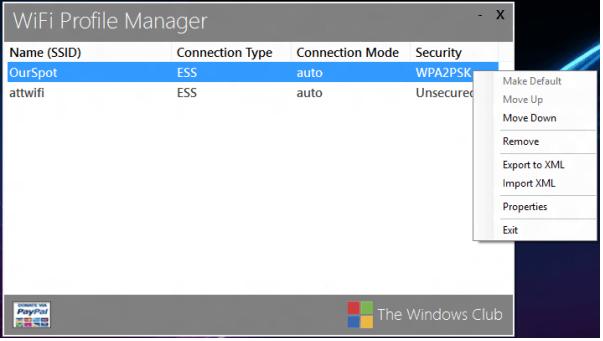 WiFi in Windows 8 - Wifi Priority - Wifi Profile Manager 8 - Windows Wally