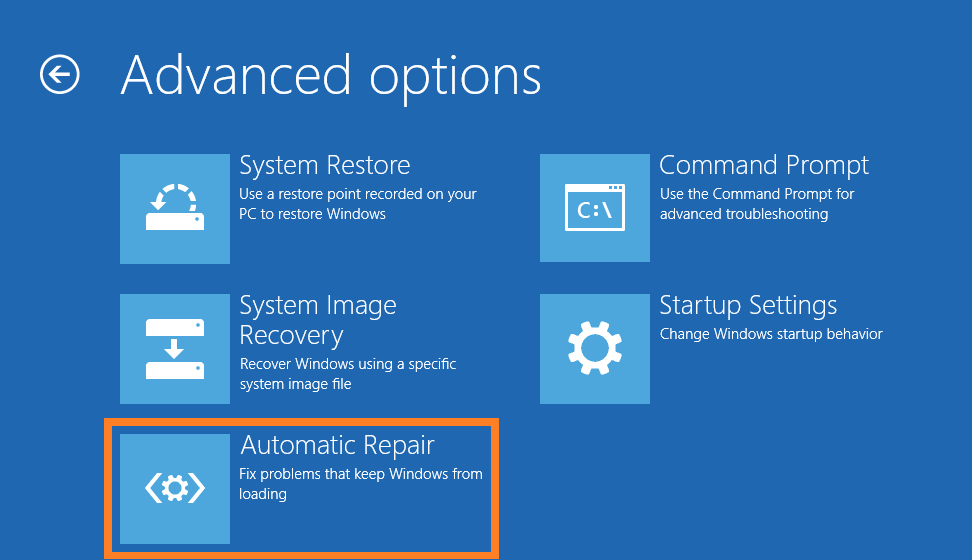 Bugcode_PSS_Crash_Progress - Repair - Troubleshoot - Startup Settings - Automatic Repair -- Windows Wally