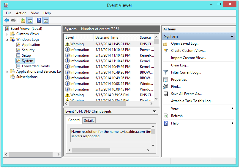 IRQL_NOT_LESS_OR_EQUAL - Event Viewer - Windows Logs - System -- Windows Wally