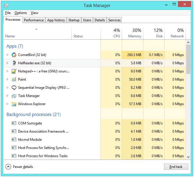RAM or Memory - Task Manager - Expanded -- Windows Wally