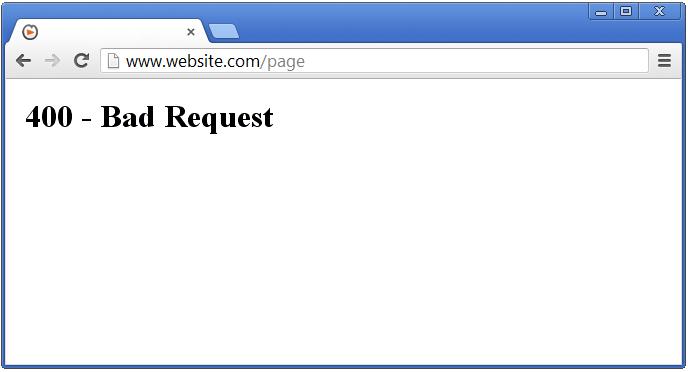 Server Errors - 400 Bad request - SolvuSoft