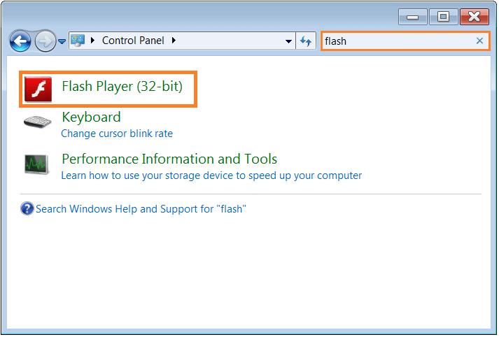Software Updates - Adobe Flash - control panel -- WindowsWally