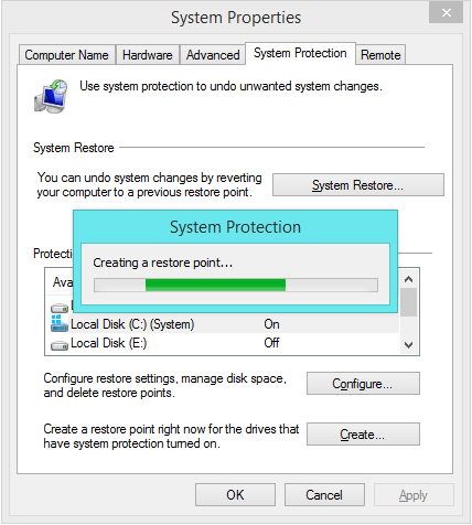 System Restore -- System Protection - Creating Restore Point 2 - Windows Wally