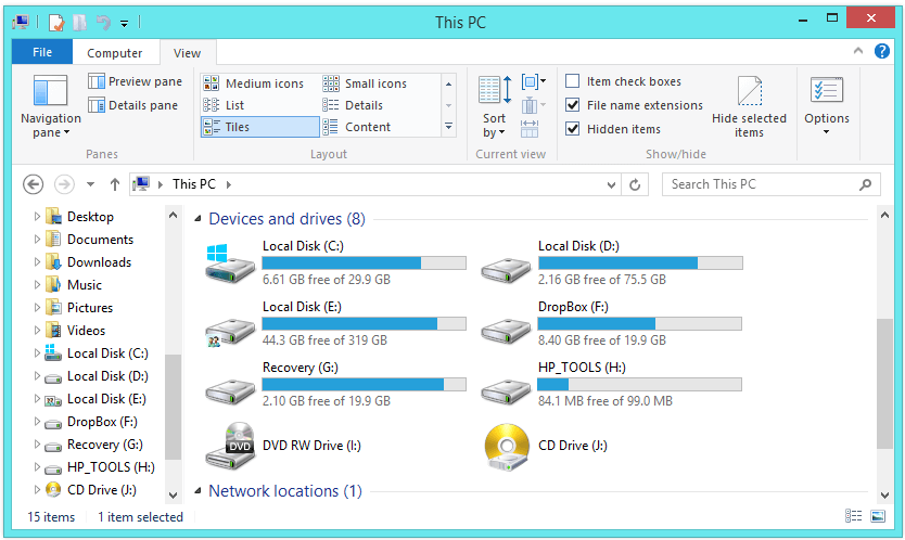 Windows 8 - File Explorer -- Windows Wally
