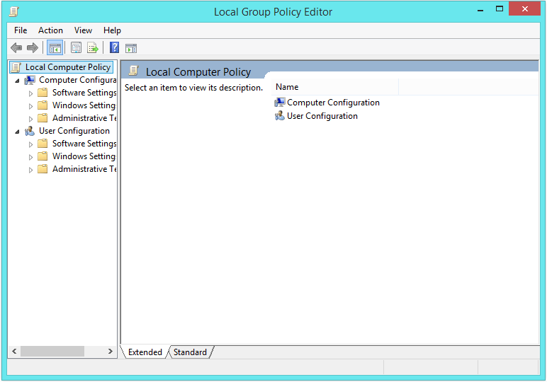 how to open group policy management console windows 8
