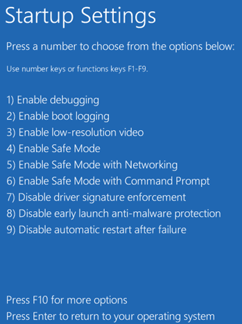 0xc000021a - Windows 10 - Startup Settings 2 -- Windows Wally