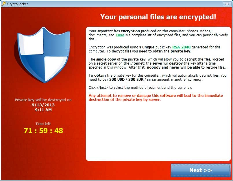 CryptoLocker - Cover - Error - WindowsWally