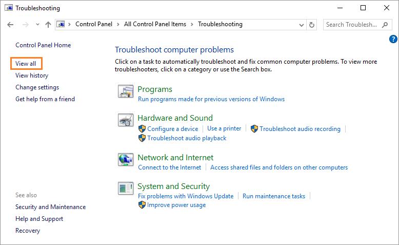 problem audio windows 10