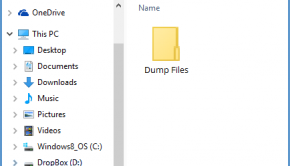 Dump Files -- Windows 10 - File Explorer - Featured - Windows Wally