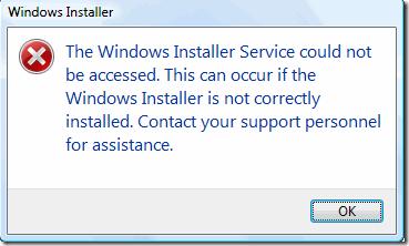 Windows Installer -- Cover - Error - Windows Wally