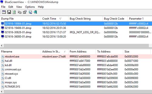 WHEA_UNCORRECTABLE_ERROR -- BlueScreenView - 2 - Windows Wally